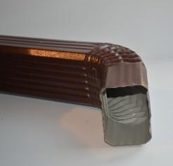 Труба водосточная 76х102х1000 с коленом