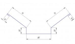 Планка ендовы верхняя 76*76, полиэстер в Улан-Удэ