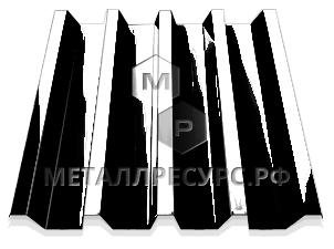 Профнастил С44 п/э 0.45 мм Слоновая кость