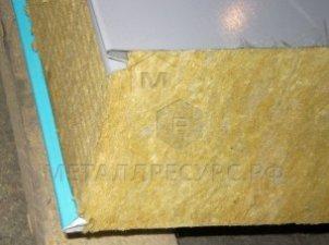 Стеновая сэндвич-панель с базальтовым наполнением 50 мм Слоновая кость