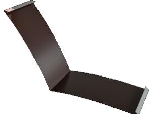 Планка ендовы нижняя п/э 298*298 м Слоновая кость