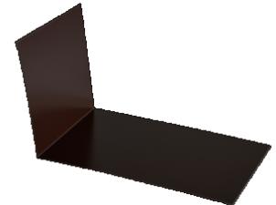 Планка примыкания верхняя п/э 250*147 м Слоновая кость