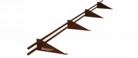 Снегозадержатель Snegos «Эконом» ЭБК-СТЭ-ОПП-3000 (4 опоры, 2 трубы)