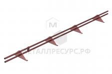 "Снегозадержатель РуфЛайн ""ОПТИМА""  3000  (4 опоры, 2 трубы)"