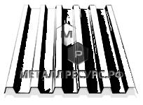 Профнастил С21 окрашенный для фасада 0.45 мм Чёрный янтарь в Ачинске