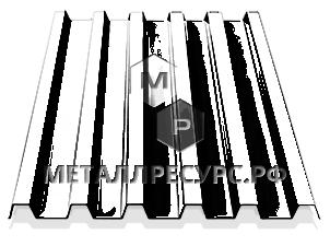 Профнастил С21 0.40 мм Цинк