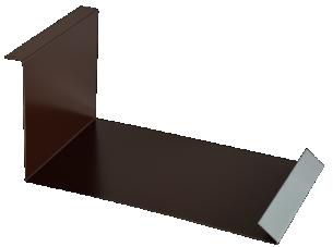 Планка примыкания нижняя п/э 250*122 м Слоновая кость