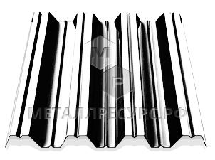 Профнастил НС35 окрашенный 0.45 мм Графитовый серый