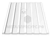 Профнастил С10 окрашенный 0.45 мм Сигнальный белый в Асбесте