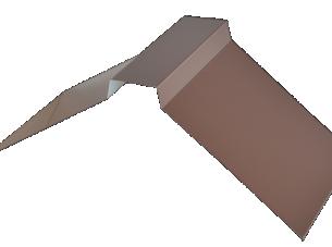 Планка конька плоского 150*150 м Цинк