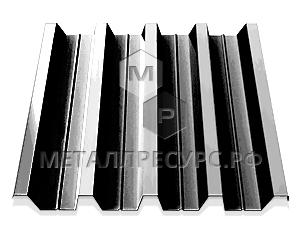Профнастил Н60 0.55 мм Цинк