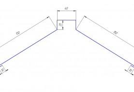 Планка конька плоского в Асбесте